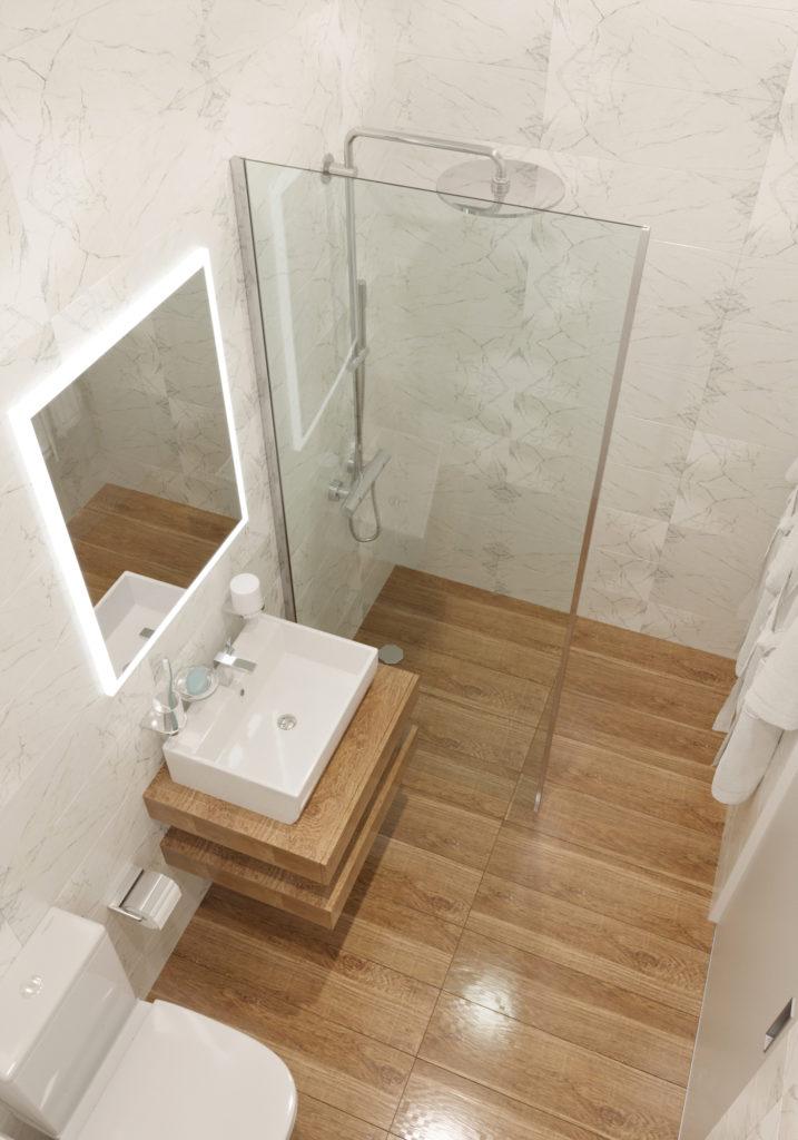 Ванная комната в стандартном номере на двоих